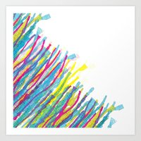 stripes in the wind Art Print