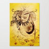 Owl Doodle Canvas Print