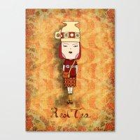 Red Tea Girl Canvas Print