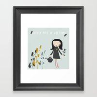 Nature Must Be Nurtured Framed Art Print