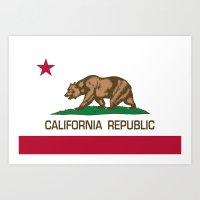 California Republic state flag - Authentic High Quality Version Art Print