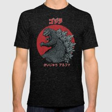 Gojira Kaiju Alpha Mens Fitted Tee Tri-Black SMALL