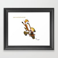 Captain Cal And A Tiger … Framed Art Print