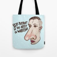 Self-Portrait of the Artist in Wintertime Tote Bag