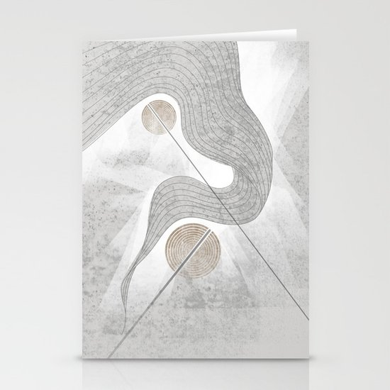 The waterfall of Subconsciousness Stationery Card
