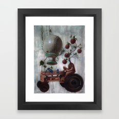 Morning Glories Framed Art Print