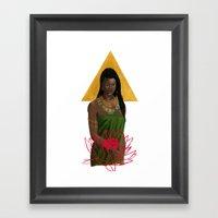 Egyptian Lotus Framed Art Print