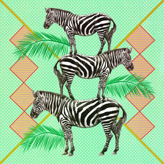 zebras in the jungle Art Print