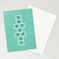 Hopscotch Mint Stationery Cards