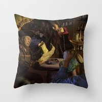 Pirate Cavern Throw Pillow