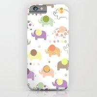 Patterned Elephant Print iPhone 6 Slim Case