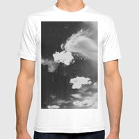 Cloudy Daze Mens Fitted Tee White SMALL