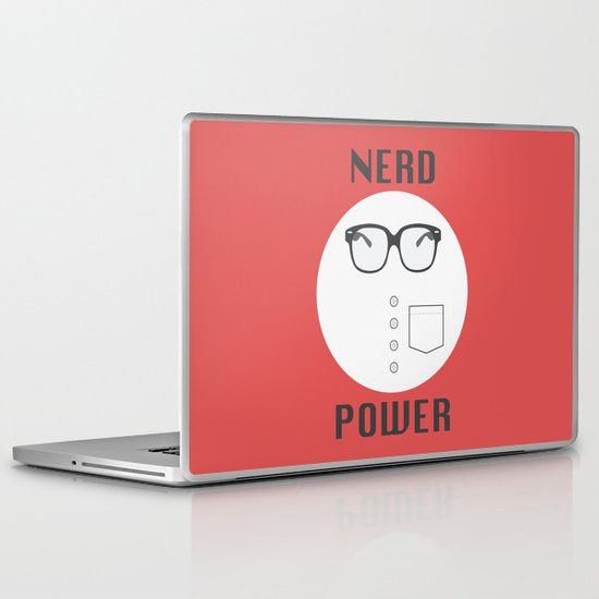 Nerd Power Laptop & iPad Skin