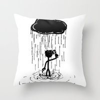 Turn That Cloud, Upside … Throw Pillow