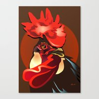 Andalusian Rooster 2 Canvas Print