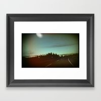 Night Drives Framed Art Print