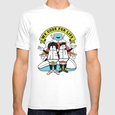 Lorem & Ipsum White Mens Fitted Tee SMALL