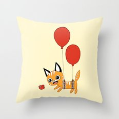 Balloon Cat Throw Pillow