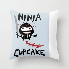 Ninja Cupcake Throw Pillow