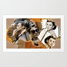 Audrey Hepburn - Ripped Paper Style - Art Print