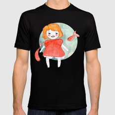Ponyo Black SMALL Mens Fitted Tee
