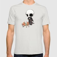 Smashing Pumpkin King Mens Fitted Tee Silver SMALL