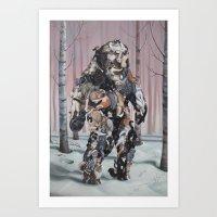 Catsquatch Art Print