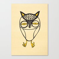 satisfied  owl Canvas Print