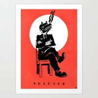 Black Dog: Embrace Art Print