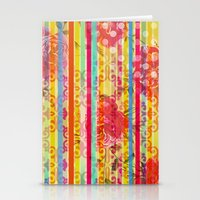 Retro Pattern Collage Stationery Cards