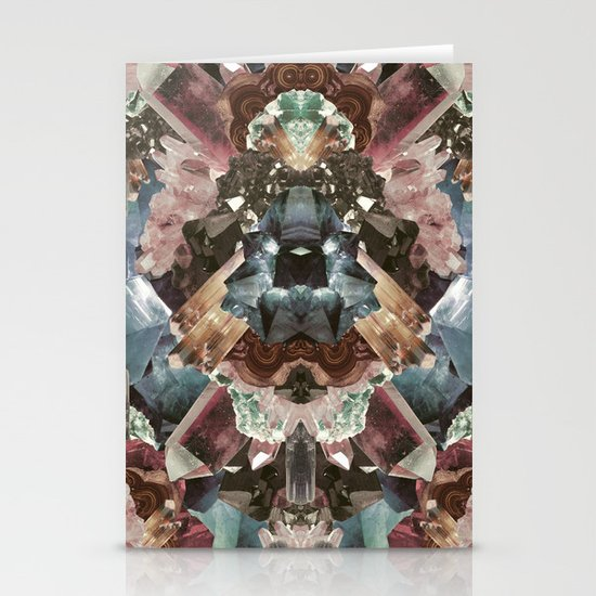 Crystal Collage Stationery Card