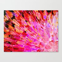 SEA SCALES IN PINK - Hot… Canvas Print