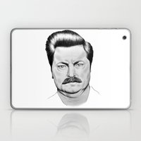 Ron Swanson Laptop & iPad Skin