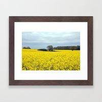 Landscape In Yellow Framed Art Print