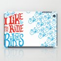 I Like to Ride Bikes iPad Case