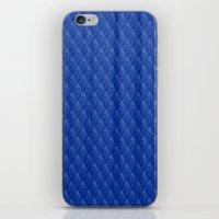 Blue Diamond Pattern Cur… iPhone & iPod Skin