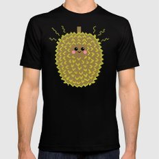 Happy Pixel Durian SMALL Mens Fitted Tee Black