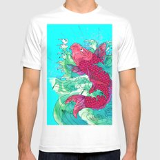 Lucky Koi Mens Fitted Tee White SMALL