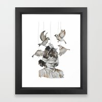 Enfance perdue Framed Art Print