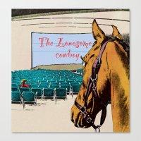 Lonesome cowboy Canvas Print