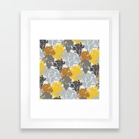 Acer Bouquets - Golds & Silvers Framed Art Print