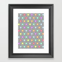 Careless Woman Pattern V1 Framed Art Print