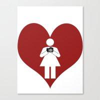 T-Shirt I Love Photography  (Girl) Canvas Print