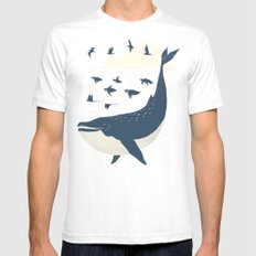 Fly in the sea White Mens Fitted Tee SMALL