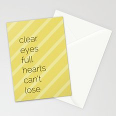 Clear Eyes, Full Hearts, Can't Lose-Friday Night Lights  v2.0 Stationery Cards
