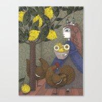 The Lemon Picker Canvas Print