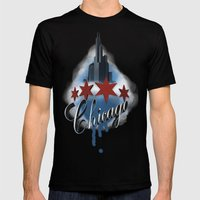 The Windy City Mens Fitted Tee Black SMALL