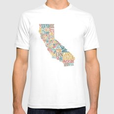 California by County SMALL White Mens Fitted Tee