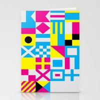 Nautical Alphabet CMYK Stationery Cards