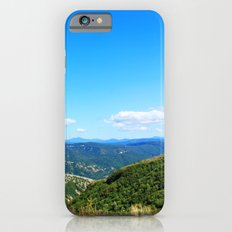 Landscape photography of mountain, blue sky and wild land.  Slim Case iPhone 6s